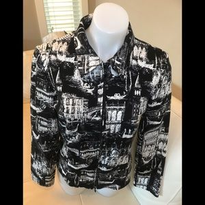 Joseph Ribkoff Black/White lightweight Jacket